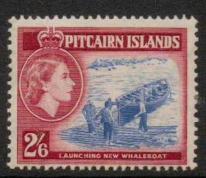 PITCAIRN ISLANDS SG28 1959 2/6 ULTRAMARINE AND LAKE  MNH
