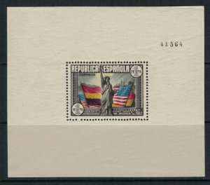Spain #585c*  CV $27.50  US Constitution sesquicentennial Souvenir sheet
