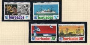Barbados Sc 368-71 1972 Telecommunications  stamp set mint NH