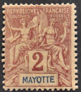 DYNAMITE Stamps: Mayotte Scott #2 – MINT hr