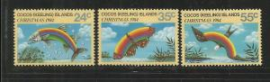 COCOS ISLANDS, 122-124, MNH, CHRISTMAS 1984