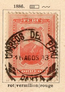 Peru 1886 Early Issue Fine Used 50c. NW-11693