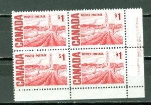 CANADA 1971 OIL FIEDS  #465Biii PL2... LR CORNER PVA GUM  MNH...$62.50