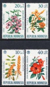 Indonesia MNH B195-8 Flowers Flora 1966