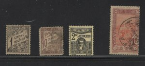 Tunisia Back Of Book Lot Of 4. Mint & Used.      #02 TUNIBOBs4