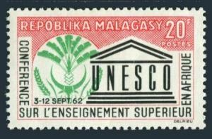 Malagasy 333 two stamps,MNH.Michel 484. UNESCO:Higher Education in Africa,1962.