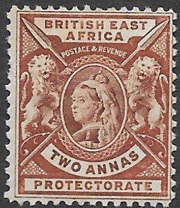 British East Africa 75    196   2 annas  fine mint - hinged