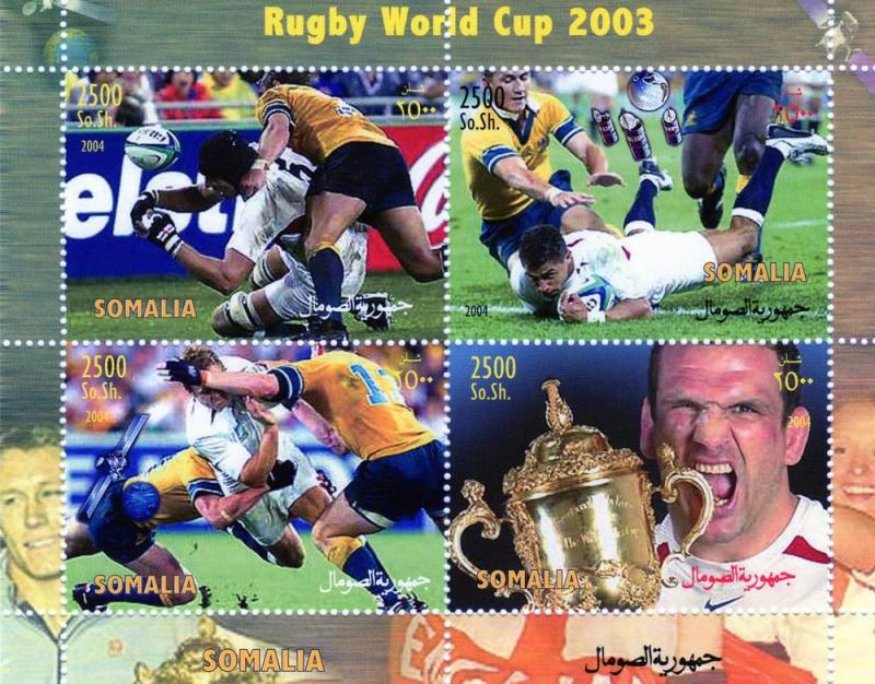 Somalia 2003 Rugby World Cup-SpaceShlt(4)Perf MNH # SOI 1/4C
