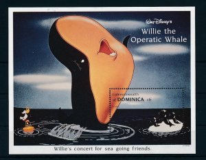 [22228] Dominica 1993 Disney Willie the Operatic Whale and pinguins MNH