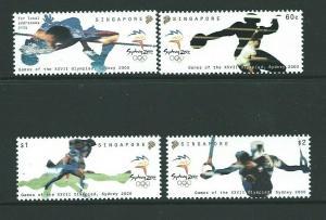 SINGAPORE SG1065/8 2000 OLYMPICS MNH