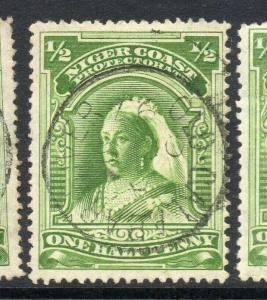 Niger Coast 1894-97 Early Issue Fine Used 1/2d. 303795