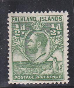 Falkland Islands  Scott#  54  MH