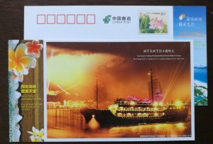 Touring Taking archaized sailing boat Ocean Great Wall,CN 12 hainan island PSC