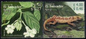 EL SALVADOR UPAEP FLORA and FAUNA Sc 1594-1595 SET of 2 MNH 2003