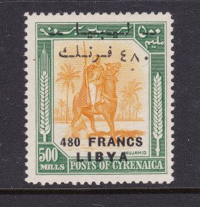 Libya a 480Fr on a 480 ml from 1951 but mint no gum