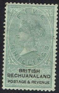 BECHUANALAND 1888 QV 5/-