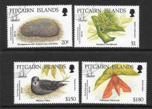 PITCAIRN ISLANDS SG418/21 1992 SIR PETER SCOTT MEMORIAL EXPEDITION FINE USED