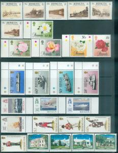 BERMUDA : 6 different Very Fine, Mint Never Hinged Complete sets between 1988-89