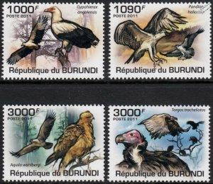 Burundi MNH 862-5 Birds Of Prey Fauna 2011 SCV 15.00
