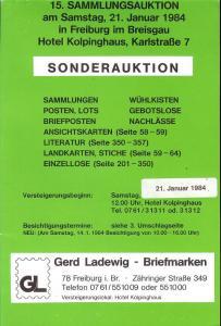 15. Sammlungsauktion: Sonderauktion, Gerd Ladewig  Jan. 2...