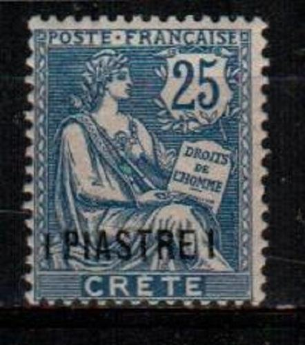 French Offices in Crete Scott 16 Mint hinged (Catalog Value $55.00)