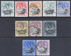 St Helena 1912 1/2d - 3s Views SG 72-81 Scott 61-70 VFU Cat £325($438)