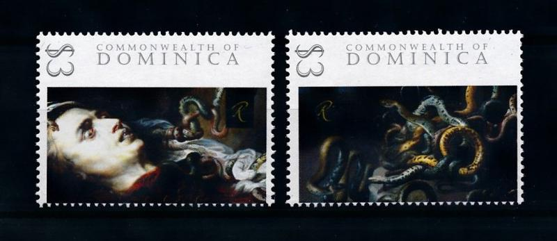 [76462] Dominica 2009 Painting Rubens Head of Medusa  MNH