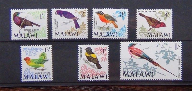 Malawi 1968 Birds 1st Series to 1s MNH