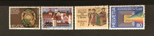 Switzerland 1978 #652-55, Used, CV $2.30