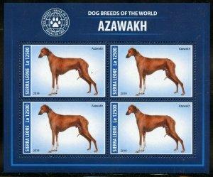 SIERRA  LEONE  2019 DOG BREEDS OF THE WORLD-- AZAWAKH SHEET MINT NH