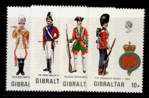GIBRALTAR QEII SG314-316, 1973 military uniform set, NH MINT.