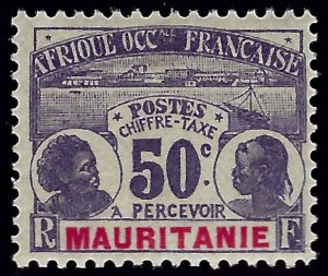 Mauritania Sc J6 Mint OG F-VF SCV$20...Colonies are in demand!