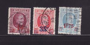 Belgium 192-194 U King Albert I (A)