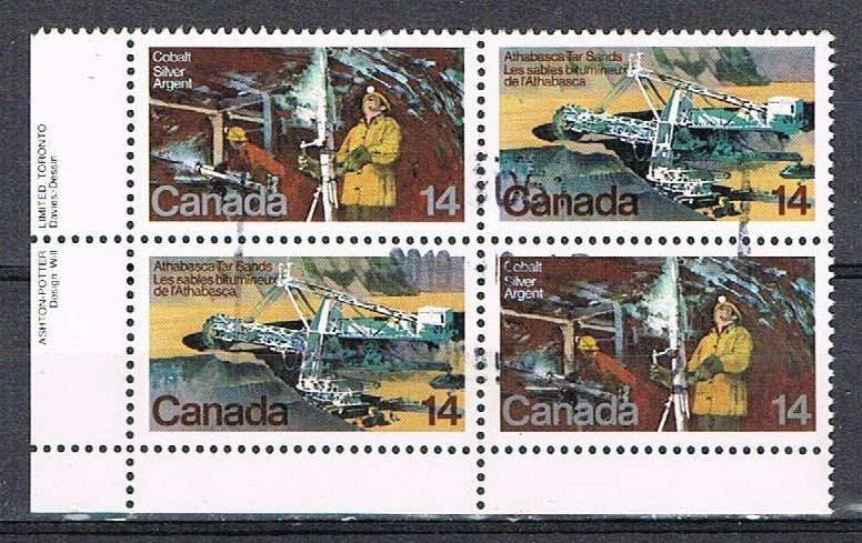 CANADA 181051 - 1978 14c Natural Resources used block - 2 pairs