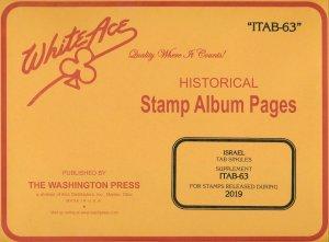 WHITE ACE 2019 Israel Tab Singles Stamp Album Supplement ITAB-63