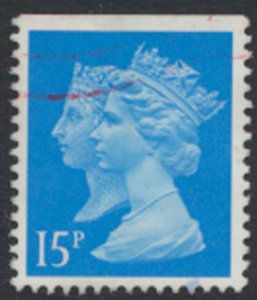 GB  SG 1468  SC# MH190 ? Machin double head 15p left sideband Used detail scan