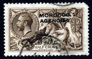 MOROCCO AGENCIES KG V 1917 D.L.R. 2/6d. Brown Seahorses Overprinted SG 51 VFU