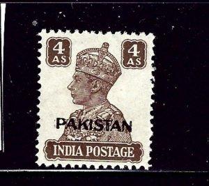 Pakistan 9 MH 1947 issue   (P9)