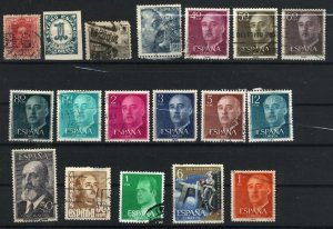 Spain 338,542,641,695,752,820-22,824-25,827,830-32,1001,1854,1973,C146  used  PD