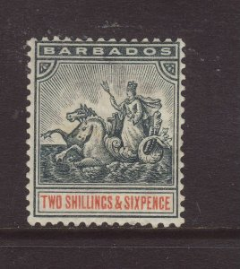 1892 Barbados 2/6 Wmk Crown CA Mounted Mint SG114