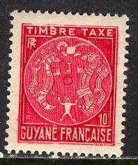 French Guiana 1947: Sc. # J22; **/MNH Single Stamp