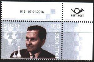 Estonia. 2016. 846. Keres, chess. MNH.