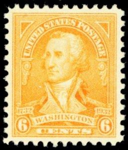 711, Mint Superb NH 6¢ GEM Stamp! - Stuart Katz