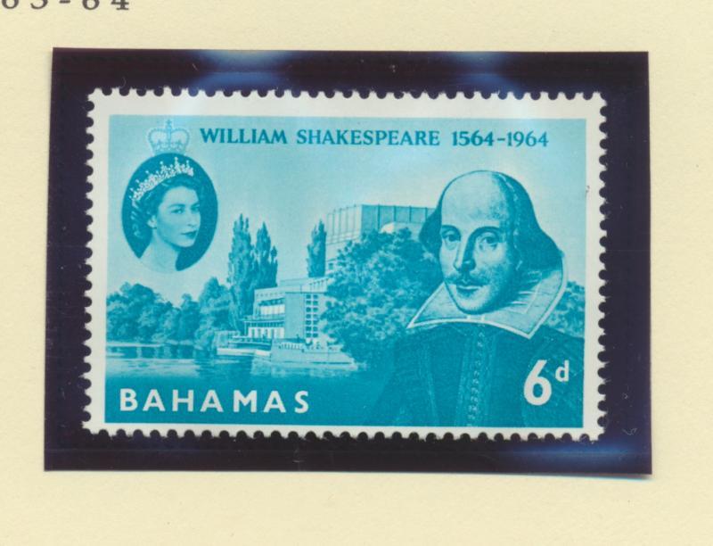 Bahamas Scott #201, Mint Never Hinged MNH, Shakespeare, British Commonwealth ...