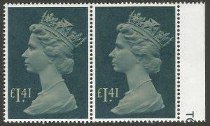 GB 1977-87 £1.41 Large Machin Pair unmounted mint SG1026d
