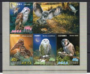 NORTH KOREA - BIRDS - OWLS - 2013 -