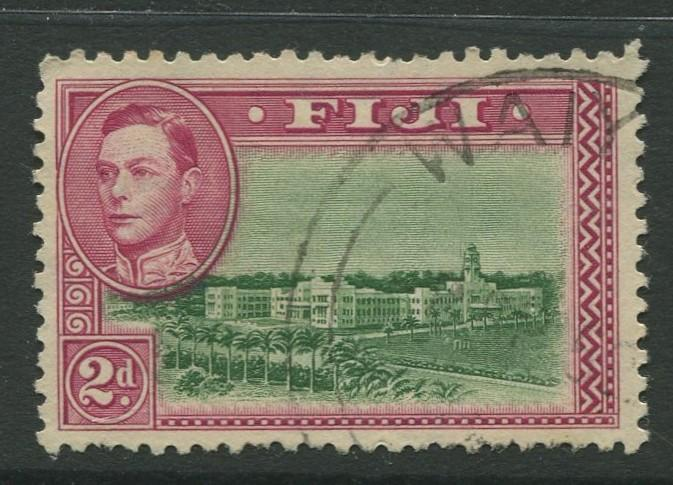 Fiji - Scott 121 - KGVI - Definitive - 1942 - FU - Single 2d Stamp