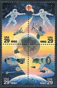 USA 2631-2634: 29c Space Exploration, Setenant Block, MNH, VF