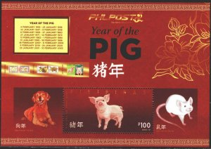 Philippines. 2019. Year of the pig, Chinese New Year, dog. MNH.