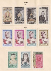 LAOS  INTERESTING COLLECTION - REMOVED FROM ALBUM PAGES - Y969
